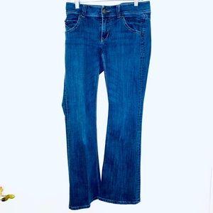 CAbi jeans 4 bootcut medium wash stretch flare Y2K